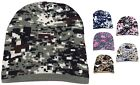 Adult Knitted Beanie Digital Camo Print Hat Headwear Winter Beanie