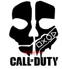 vinyl sticker wall decal PlayStation ps5 ps4 call of duty skull ghosts...