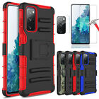 For Samsung Galaxy S20 FE 5G / Fan Edition Armor Kickstand Belt Clip Case Cover