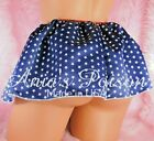 Sissy Satin Mini slip Skirts Patriotic Print, Pink Solids and Florals Coming!