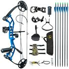 M2 290fps IBO Black Youth Compound Bow Set For Beginners Adolescents Children