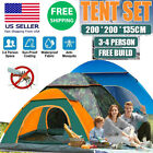 Waterproof 3-4 Person Automatic Instant Pop Up Outdoor Camping Tent Family US
