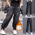 Hot Women's Puffa Puffer Trousers Pants Duck Down Padded Quilted Outdoor Winter