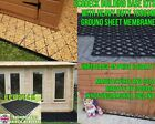 ECODECK GARDEN SHED BASE GRID KIT DISCOUNTED RETURN / USED + HEAVY DUTY MEMBRANE