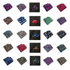 Men's Silk Polyester Wedding Party Handkerchief Stripe 20 Colors Gifts New