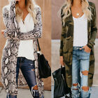 Women Leopard Print Open Cardigan Tops Long Sleeve Sweater Jacket Coat Outwear