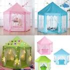 Kids Large Play Tent Princess Girls Castle Hexagon Playhouse Indoor Outdoor