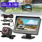 Wireless Waterproof Backup Camera System Car Rear View Parking HD + 4.3
