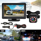 "Wireless Car Backup Camera Rear View Parking System W/ 4.3"" Monitor Night Vision"