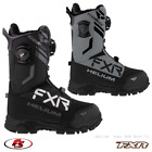New 2021 FXR Helium Dual BOA Snowmobile Boot Black/Steel Sizes 10 11 12 13