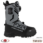 New 2021 FXR Helium Dual BOA Snowmobile Boot Black/Steel Size 10 12