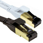 FLAT CAT8 Shielded 2000MHz 40Gbps Ethernet LAN Ultra HighSpeed Cable RJ45 Lot