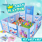 Baby Safety Playpen Play Pen Yard Kid Activity Center Toddler Indoor W/ Basket