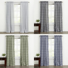 Kate Aurora Country Farmhouse Plaid Gingham Curtains - Assorted Colors & Sizes