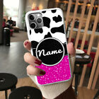 For iPhone 12 11 8 7 Plus Pro MAX XR X XS Personalised Cow Print Phone Case OD31