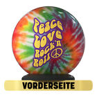 Bowling Ball OTB Peace Love Skirt 'N Roll Spare Strike Funball Motif
