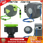 10/12+1m Automatic Retractable Water Hose Reel Wall Mounted Storage Irrigation