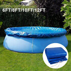 6/8/10/12 FT Above Ground Inflatable Swimming Paddling Pool Cover Round Anti-UV