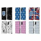 ENGLAND FOOTBALL TEAM CREST AND PATTERNS LEATHER BOOK CASE FOR SAMSUNG PHONES 1