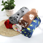 Dog Blankets Washable Fleece for Couch Sofa Puppy Cat Pet Cute Paw Throw Blanket