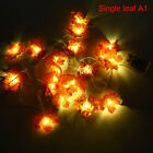 Thanksgiving Halloween Maple Leaf Decorations Fall Garland LED Decor Party US4
