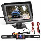 "Car Backup Camera System Car Rear View Reverse Parking Night Vision 4.3"" Monitor"