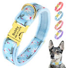 Personalized Pet Collars for Small Large Dogs Warm Plush Yorkie Labrador Boxer