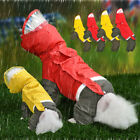 Pet Dog Rain Coat with Hood Waterproof Reflective Jacket Rainwear Small Medium