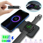 Magnetic Folding Dual Wireless Charger 2 in 1 Charging For iPhone Apple Watch US