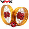 VMX 2.5*19/4.25*17 Tubeless Gold Rims Fit For Honda CB500X 2019-2021 Red Hubs