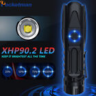 250000lm XHP90 LED Flashlight Rechargeable Zoomable Torch Outdoor Lighting