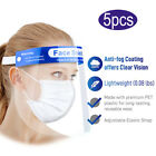 5X Plastic Adjustable Transparent Face Shield to Prevent Saliva for Kids Adults