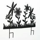 Decorative Black Silhouette Metal Garden Fence Stake Cut-Out