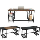 Computer Desk Study Writing Desk with Metal Shelves for Office Working PC Laptop
