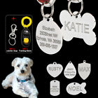 Personalized Pet Dog Name ID Tags Custom Military/Heart/Fish/Bone/Round/Shield