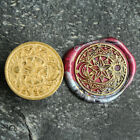 1X Sealing Wax Seal Stamp Letter Head 30mm Sun and Moon Magic Pattern Gift Decor