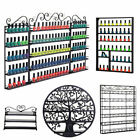 3-8 Tiers Nail Polish Display Rack Wall Mount Holder Cosmetic Organizer Shelf