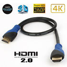 Ultra HD 4K@60Hz HDMI V2.0 Cable 3D, Ethernet, Audio Return for PS4/PS5/Xbox Lot