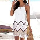 Summer Women Sexy T Shirt Floral Sleeveless Sling A-Line Beach Slim Slip Dress