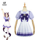 Anime Uma Musume Pretty Derby Cosplay Costume Purple School Uniform Dress Skirt