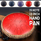 Tongue Drum 13 Inches 15 Notes Handpan Tank Drum for Meditation Yoga with Bag
