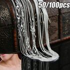 """50/100Pcs 925 Snake/Rolo Chain Necklace 1mm Silver Plated 16 18 20 22 24"""" Bulk"""