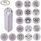 """1Pc 6mm 1/4"""" Mixed Shapes Metal Design Stamps Punch Stamping Tool for DIY Making"""