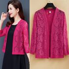 Lace Cardigan Floral Hollow Out Shrug Wrap Cropped Capes Bolero Blouse Tops Chic