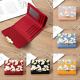 Women's Short Wallets Trifold Leather Wallet Mini Purse Card Holder Small Pocket photo