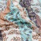 Floral Bohemian Pattern Printed Poly Power Mesh Fabric - Style P-1547-453