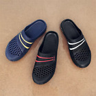 Men Hollow Out Soft Slippers Flip Flops Outdoor Casual Summer Beach Hole Shoes