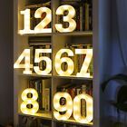 LED Light Up Numbers 22cm White 0-100 Birthday Party Celebration Stand / Hang