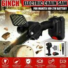 Cordless One-Hand Saw Woodworking Electric Chain Saw Wood Cutter Tool w/ Battery
