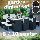 Rattan Garden Furniture Set 8 10 Seater Dining Table Chairs Outdoor Patio Wicker